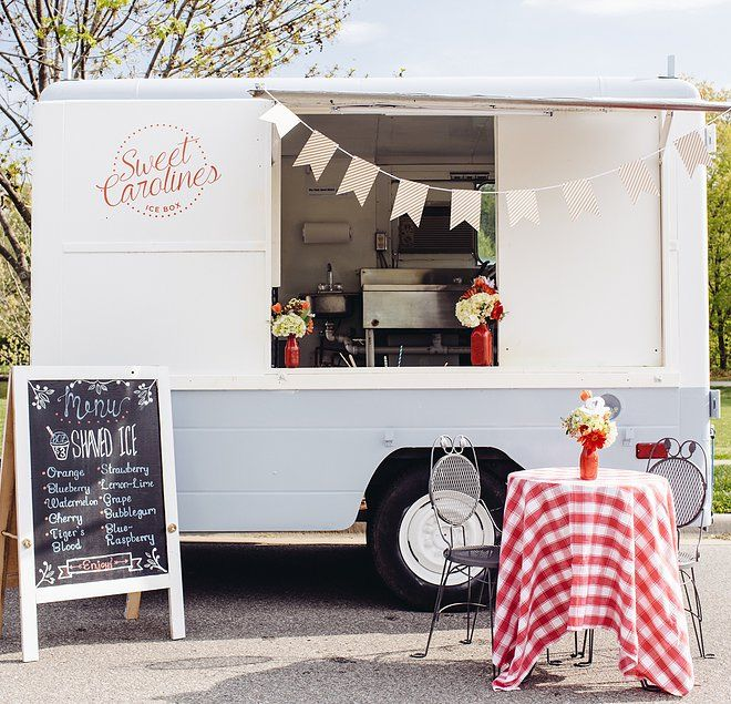 Food Truck Wedding Ideas: This Is A Really Cute Food Truck! I Love The Idea Of A