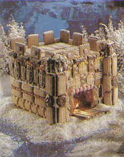 Eine Burg aus Keksen wollen wir heute basteln.