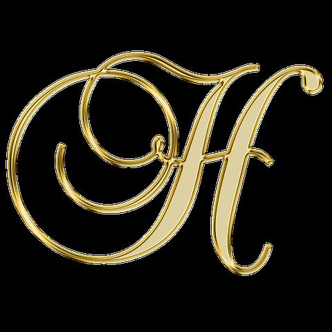 Gouden Letter H Lettering Alphabet Alphabet Tattoo Designs Fancy Letters