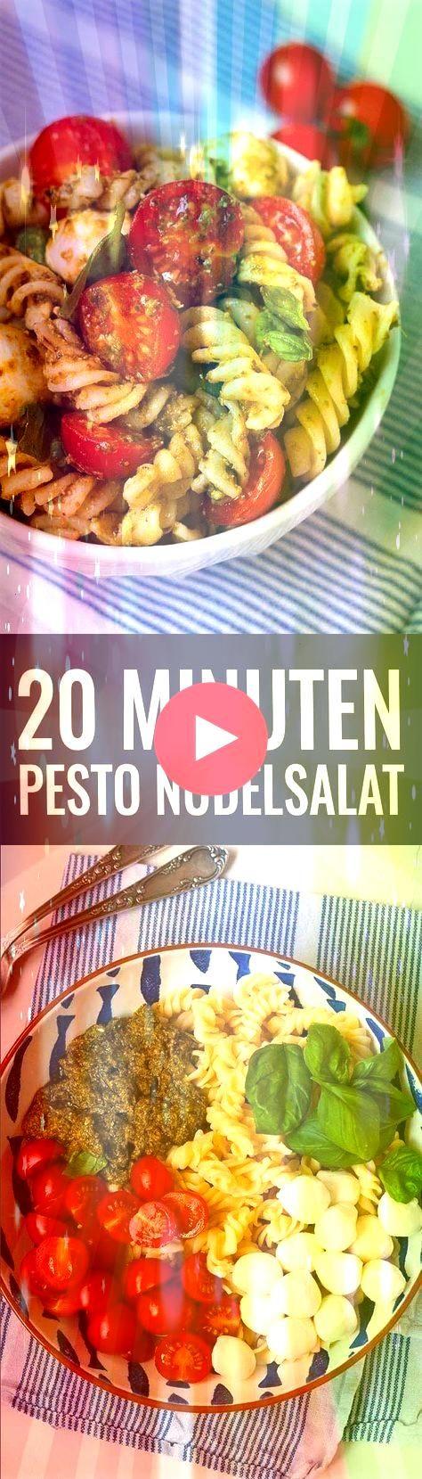 Nudelsalat mit Pesto Tomate und Mozzarella  Essen Trinken 20Minuten Nudelsalat mit Pesto Tomate und Mozzarella  Essen Trinken  Du bist auf der Suche nach einem schnellen...