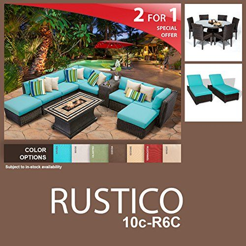Rustico 19 Piece Outdoor Wicker Patio Furniture Package RUSTICO10cR6C >>> Check this out by going to the link at the image.