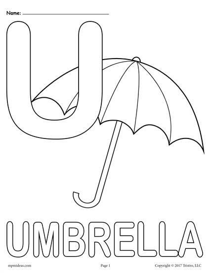 Letter U Alphabet Coloring Pages 3 Printable Versions Alphabet Coloring Pages Alphabet Coloring Letter A Coloring Pages