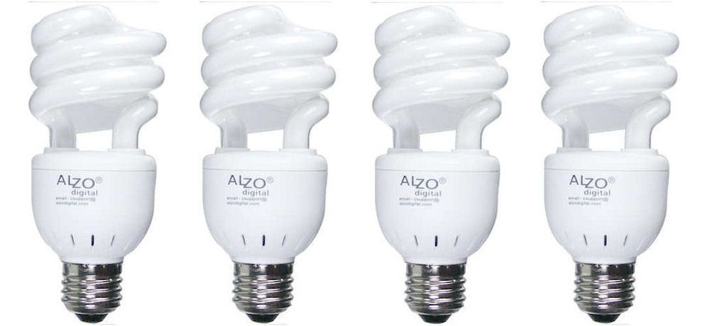 Alzo 15w Cfl Video Lux Photo Light Bulb 3200k 750 Lumens 120v Pack Of 4 Light Bulb Bulb Photo Lighting