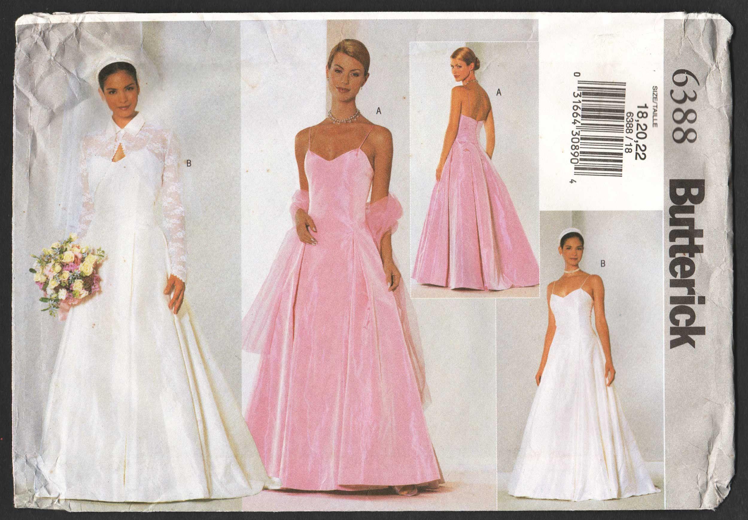 Plus Size Wedding Dress Pattern Spaghetti Strap Bridesmaid Dress And Jacket Sewing Pattern Size 18 20 2 Wedding Dress Patterns Dress Patterns Uk Dress Patterns [ 1738 x 2500 Pixel ]