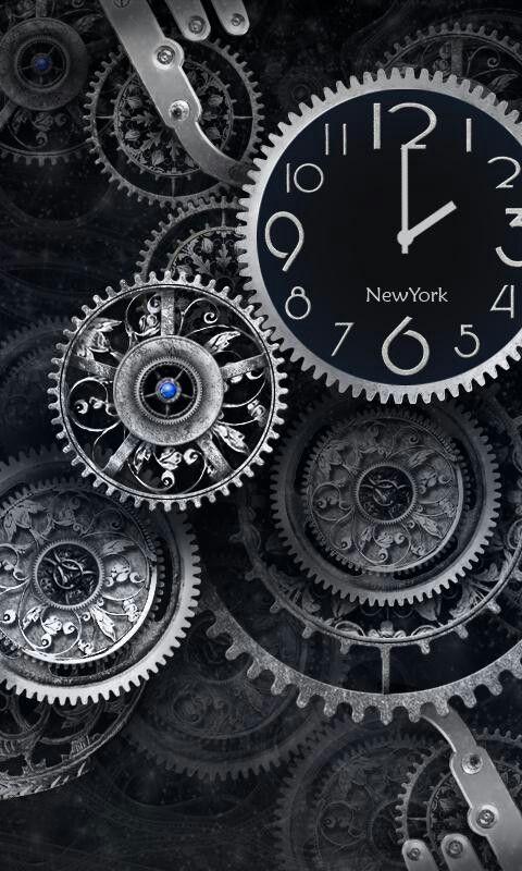 W Phone Clock Wallpaper Clock Black Clocks