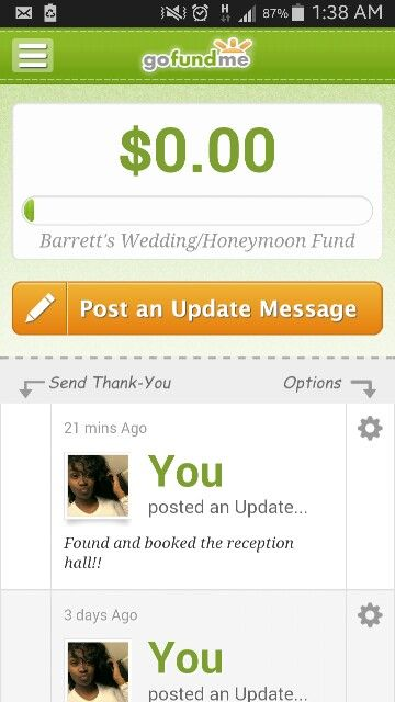 Raising Money To Help Pay For Our Wedding Donate Here Www Gofundme Com Thebarretts 11 21 2015 How To Raise Money Wedding Honeymoons Our Wedding