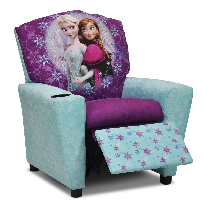 Lovely Living Room Furniture Frozen Kidsu0027 Recliner