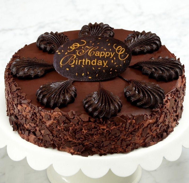 Beautiful happy birthday chocolate cake images lets you