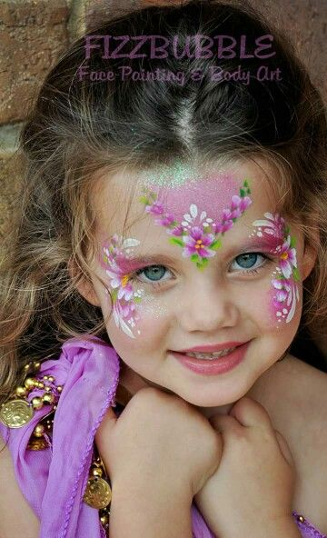 Quick Floral Face Painting Face Painting Girl Face Painting Face Painting Designs