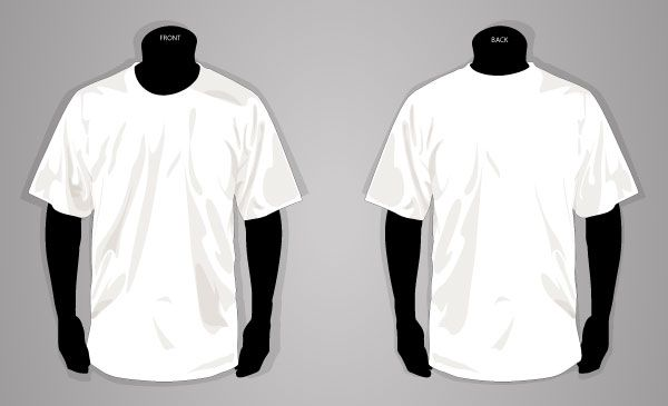 Download T Shirt Template Front And Back Vector Image Shirt Sketch Shirt Template T Shirt Sketch