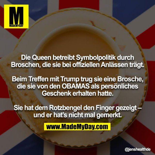 Die Queen betreibt Symbolpolitik durch ...