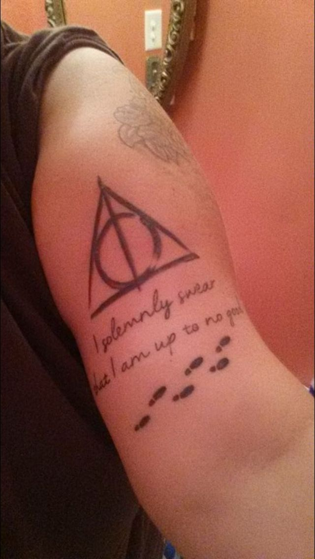 Harry Potter Tattoos Deathly Hallows I Solemnly Swear I M Up To No Good Marauders Ma Harry Potter Tattoos Harry Potter Wedding Theme Harry Potter Drawings