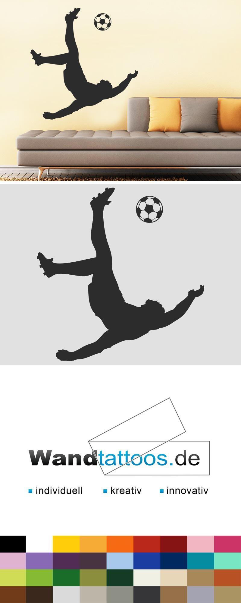 Bezaubernd Wandtattoo Fußball Dekoration Von Fußball S Als Idee Zur Individuellen Wandgestaltung.