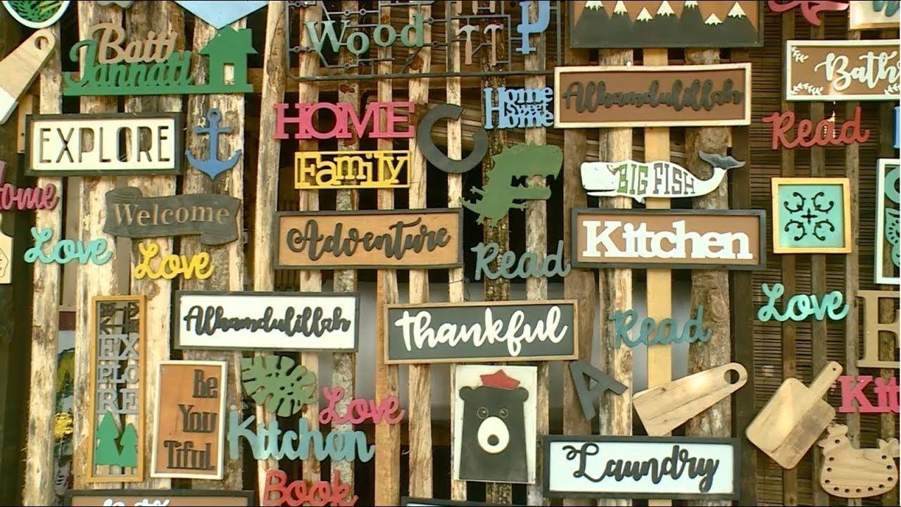 Kreasi Kece Wall Decor Berbahan Limbah Kayu Kayu Kayu Bekas Ornamen Kreasi limbah kayu