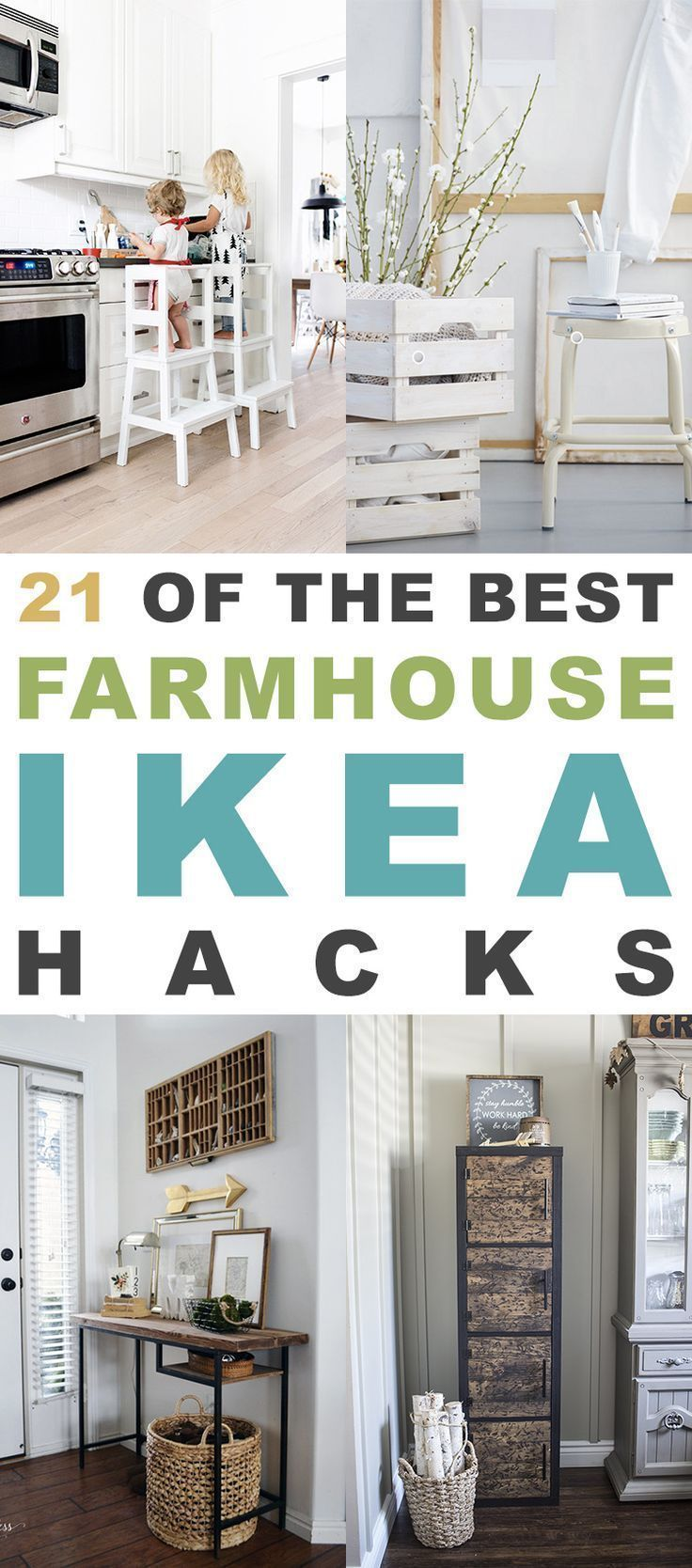 21 of The BEST Farmhouse IKEA Hacks All of these fabulous Hacks will make your Farmhouse SMILE!  Quick...Easy and Budget friendly!  #IKEAHacks #IKEAHack #FarmhouseIKEAHacks #IKEAHacksFarmhouse #Farmhouse #FarmhouseHacks #IKEA #FixerUpper