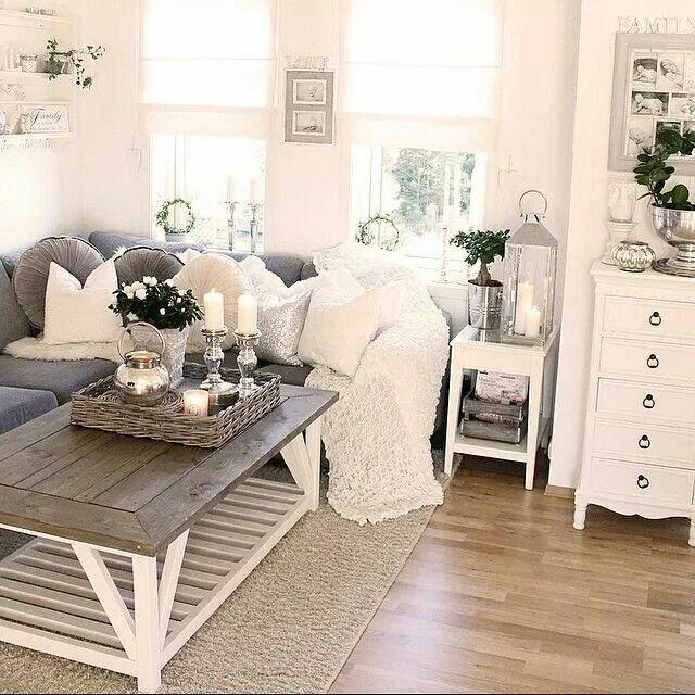 Kuschelig inspiration pinterest wohnzimmer wohnzimmer grau wei und einrichtung - Wohnzimmer landhaus weiay ...