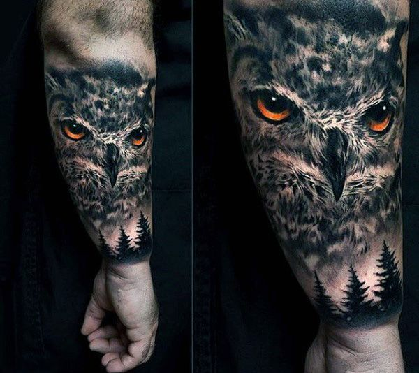 100 Realistic Tattoos For Men Realism Design Ideas Realistic Owl Tattoo Owl Tattoo Sleeve Mens Owl Tattoo