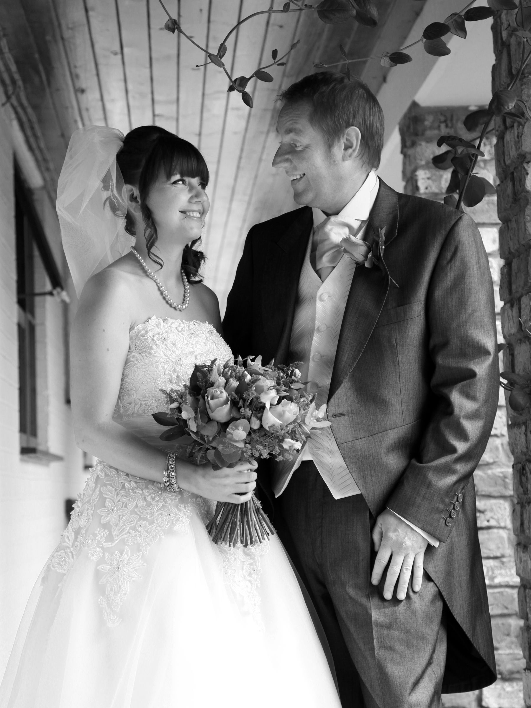 Rudstone Walk Wedding Photography Bride And Dad Black White Stephen Armishaw Photographer Hull Beverley