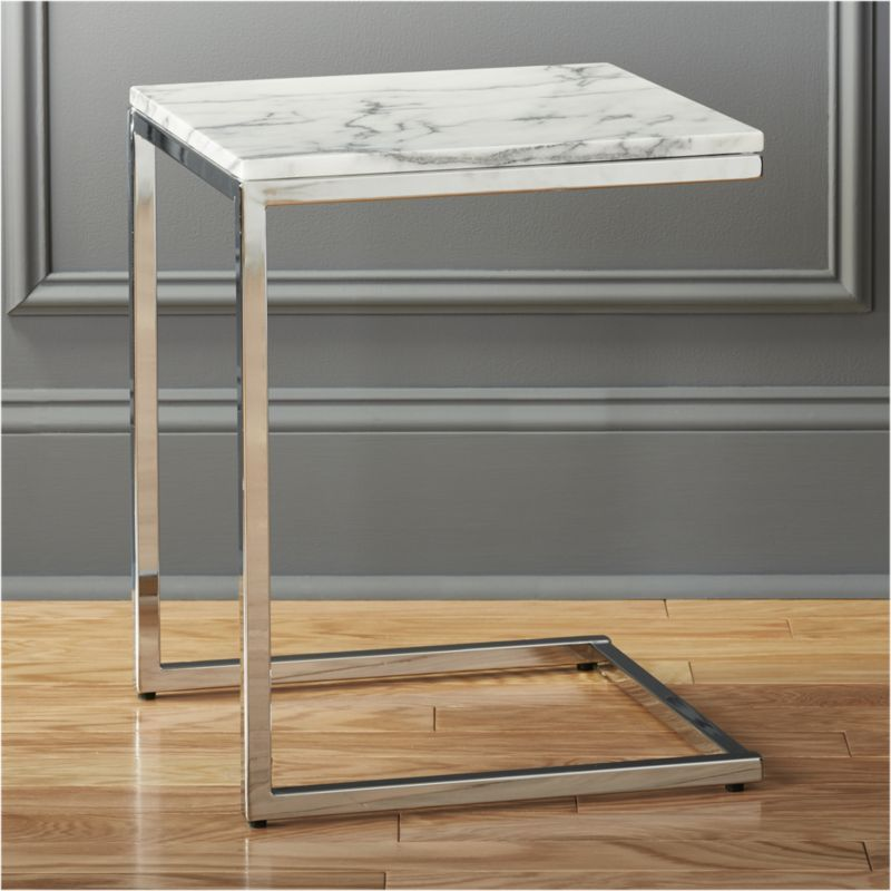 Shop Smart Marble Top C Table. Sidekick To Our Smart Round Marble Coffee  Table. The Taller But Smaller Of The Two Pulls Armside/bedside In An Open  Box Of ...