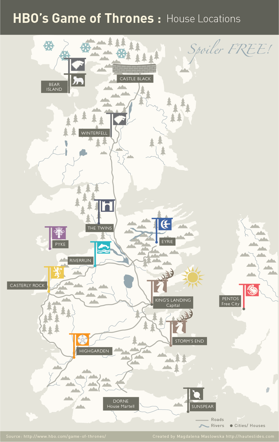 Game of thrones map of House locations   Infographic in 2019 ... Game Of Thrones Map With Houses on game of thrones westeros map, board game of thrones map, game of thrones relationship map,