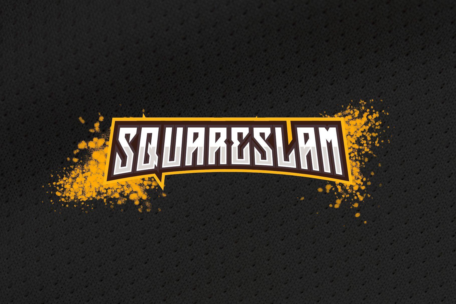 Squareslam Sports And Esports Font Community Logo Esports Mockup Photoshop