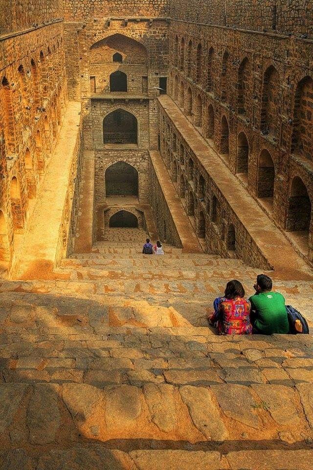 ancient stepwell new delhi concept art development pinterest