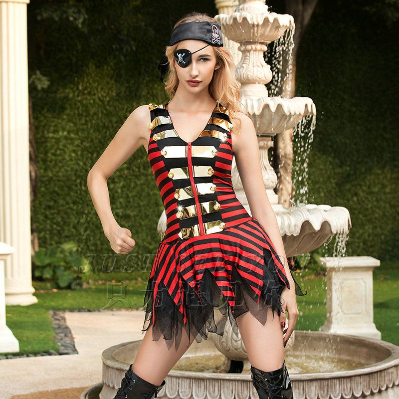 IDARMEE S9249 Delicately Packed Caribbean Pirate Costumes for Women - ladies halloween costume ideas