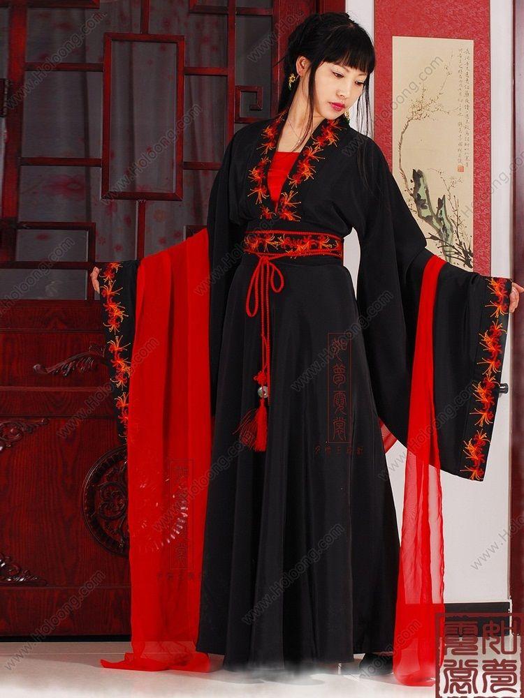 290607be0 Women's Black Skirt Wide sleeves Ruqun dress Tang Dynasty Hanfu Clothing -  USD $ 327.00