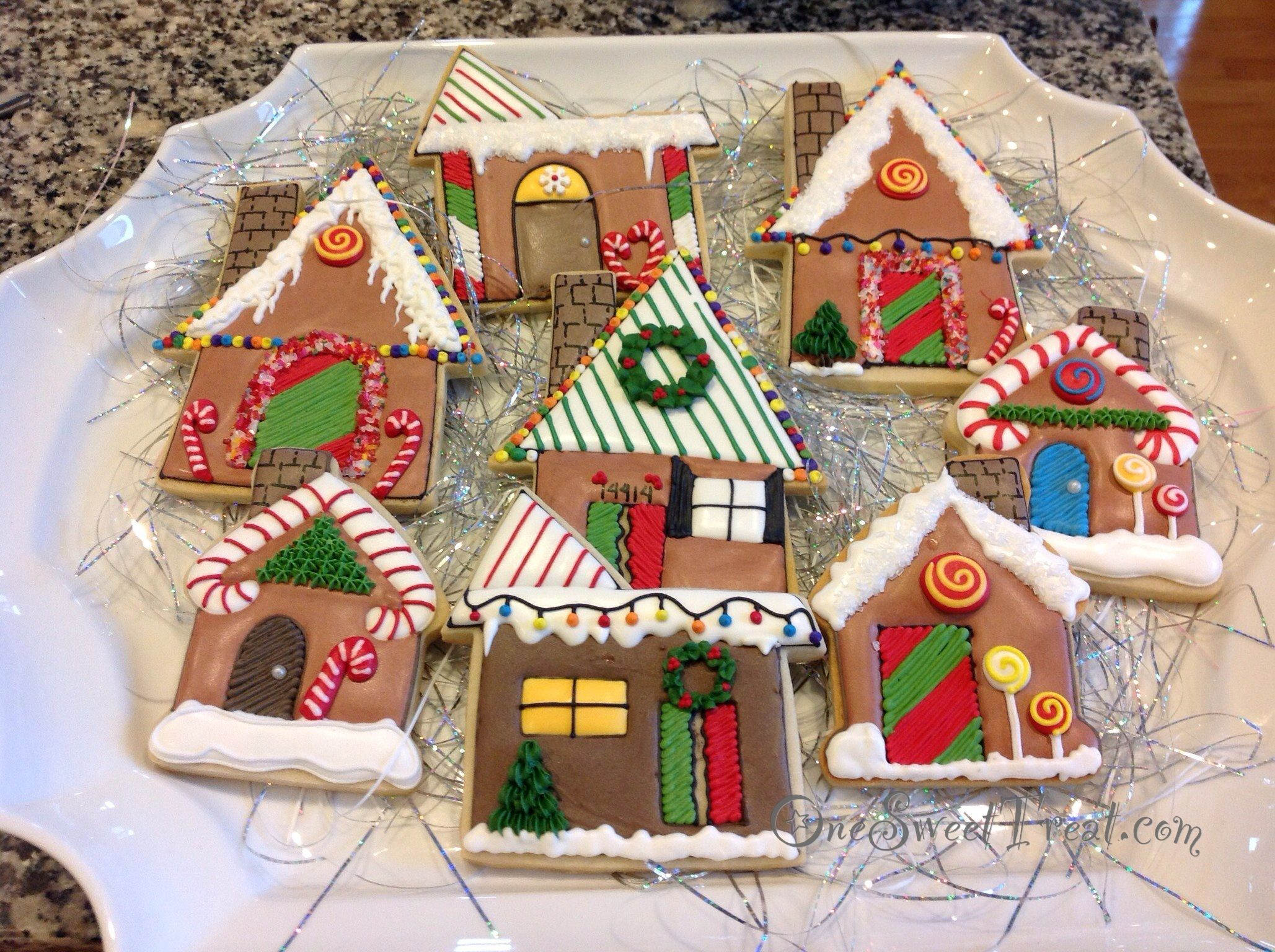 Cookies , Gingerbread house cookies. OneSweetTreat