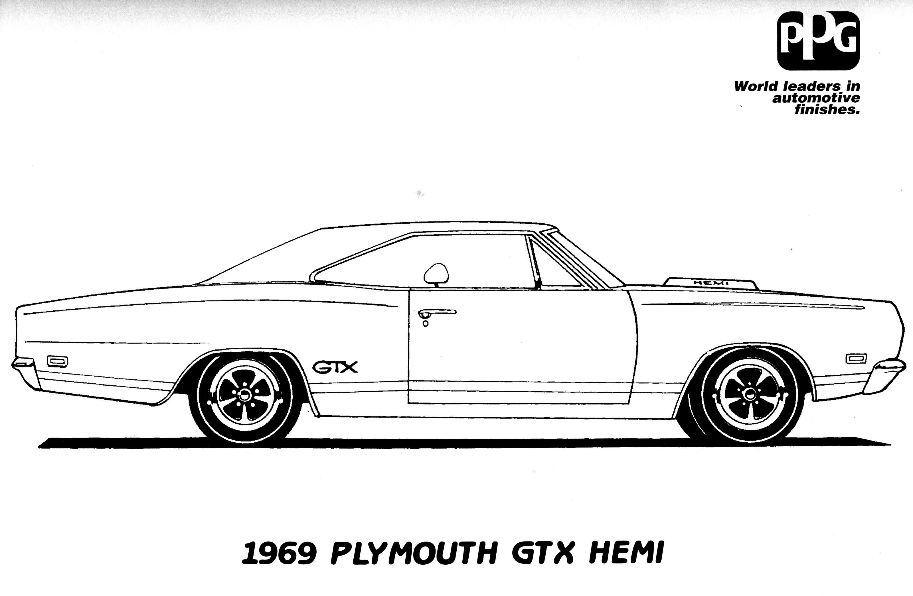 Muscle car coloring pages to download and print for free | Coloring ...