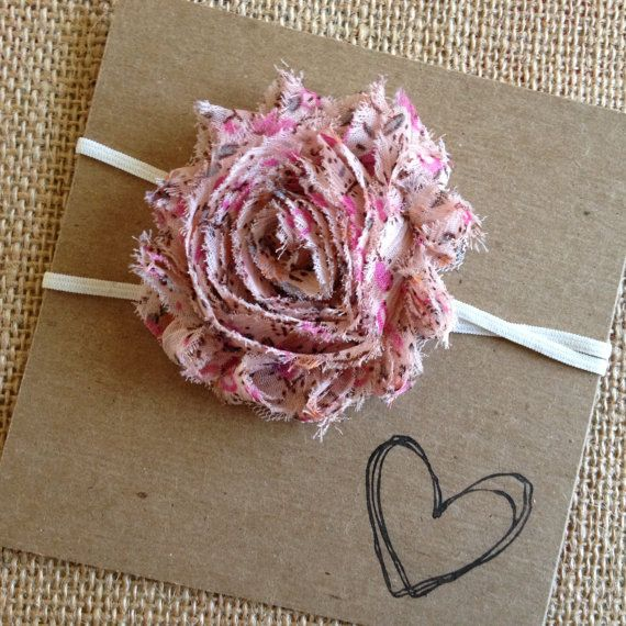 Shabby Flower Headband  Vintage Pink Pink Vintage by HipAndHail, $3.50