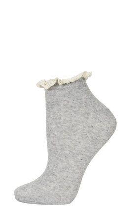 Lace Trim Trainer Socks - Clothing