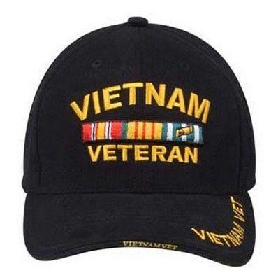 80dd7264490f99 Military Caps Vietnam Veteran Military Baseball Caps. raised embroidered  insignia ...