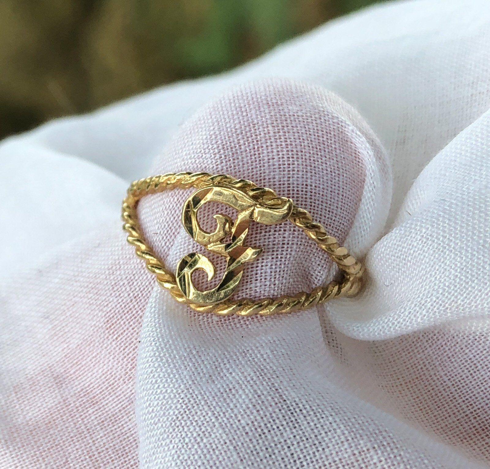 Children/'s 14k solide or jaune Baby Girl Kids Ring