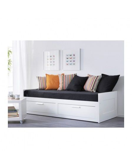 Brimnes Day Bed Frame With 2 Drawers White Home