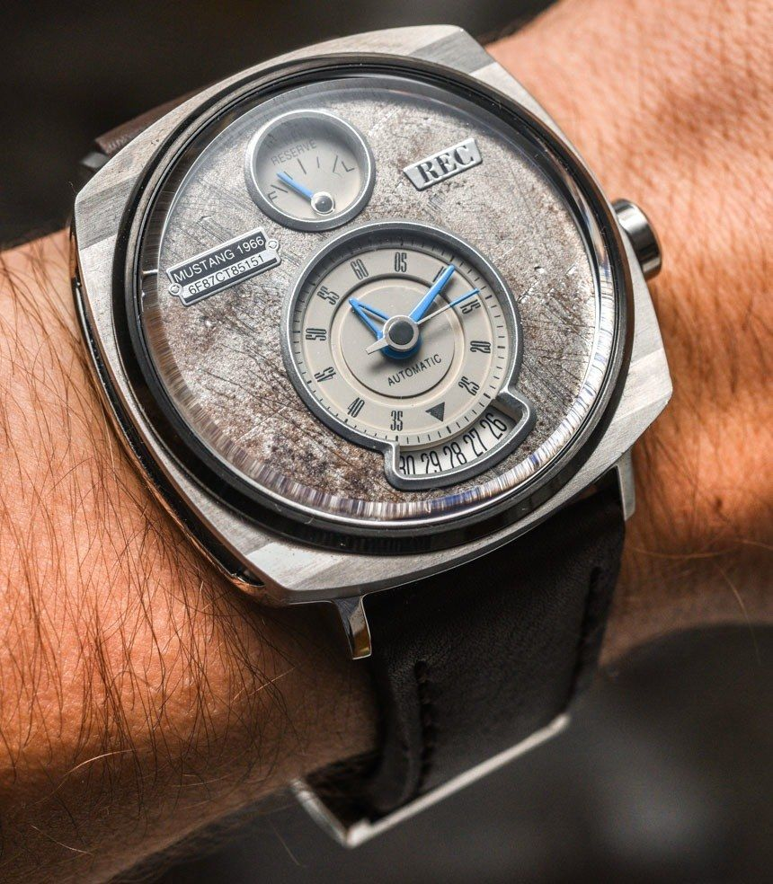 Rec p 51 mustang watch with dials made of vintage ford mustang parts review