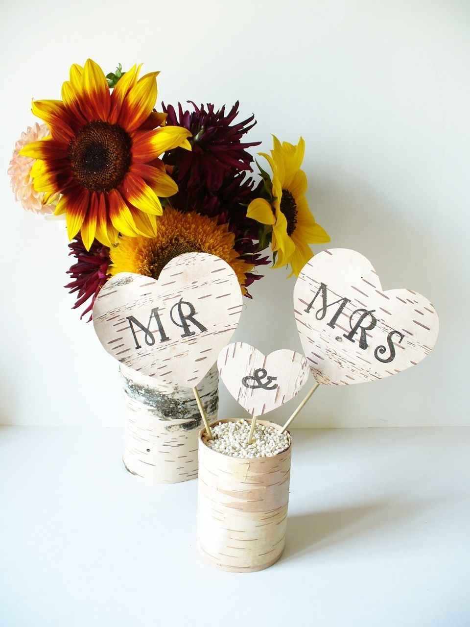 Pin rustic cake topper birch bark wedding decor country wedding