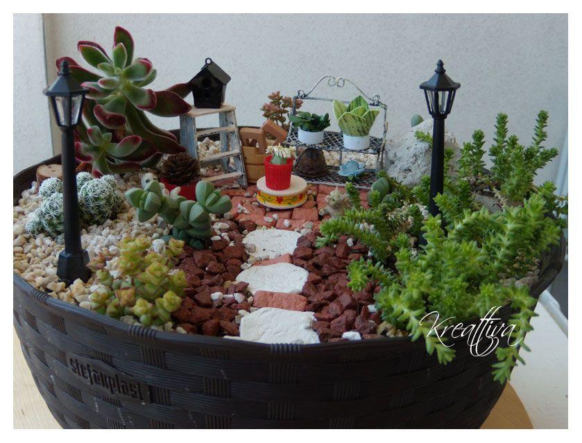 Kreattiva il mio piccolo giardino in miniatura ideas y - Giardino in miniatura ...