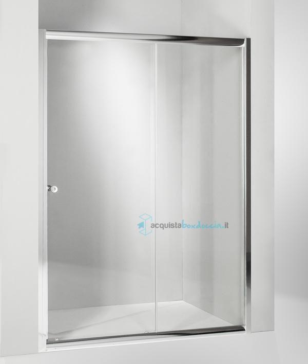 Porta doccia scorrevole 120 cm trasparente serie s Porte