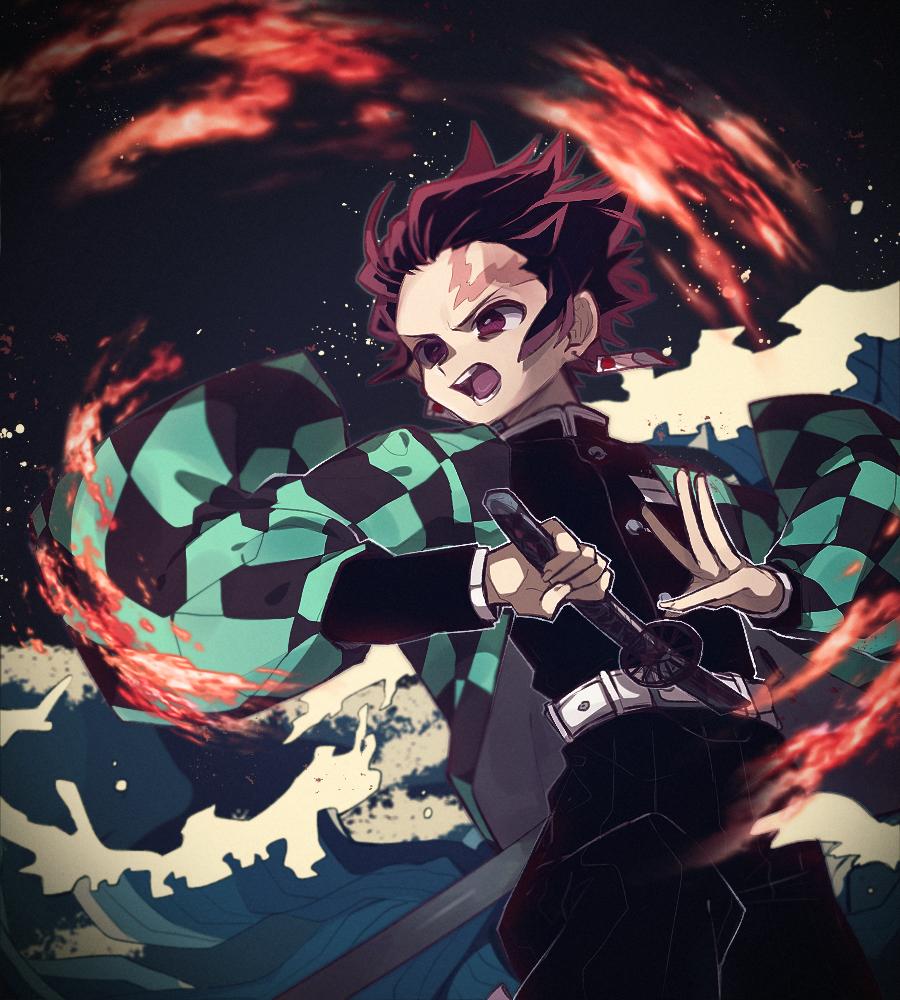 Tanjiro Kamado By Pixiv Id 33037037 Anime Anime Images Slayer Anime