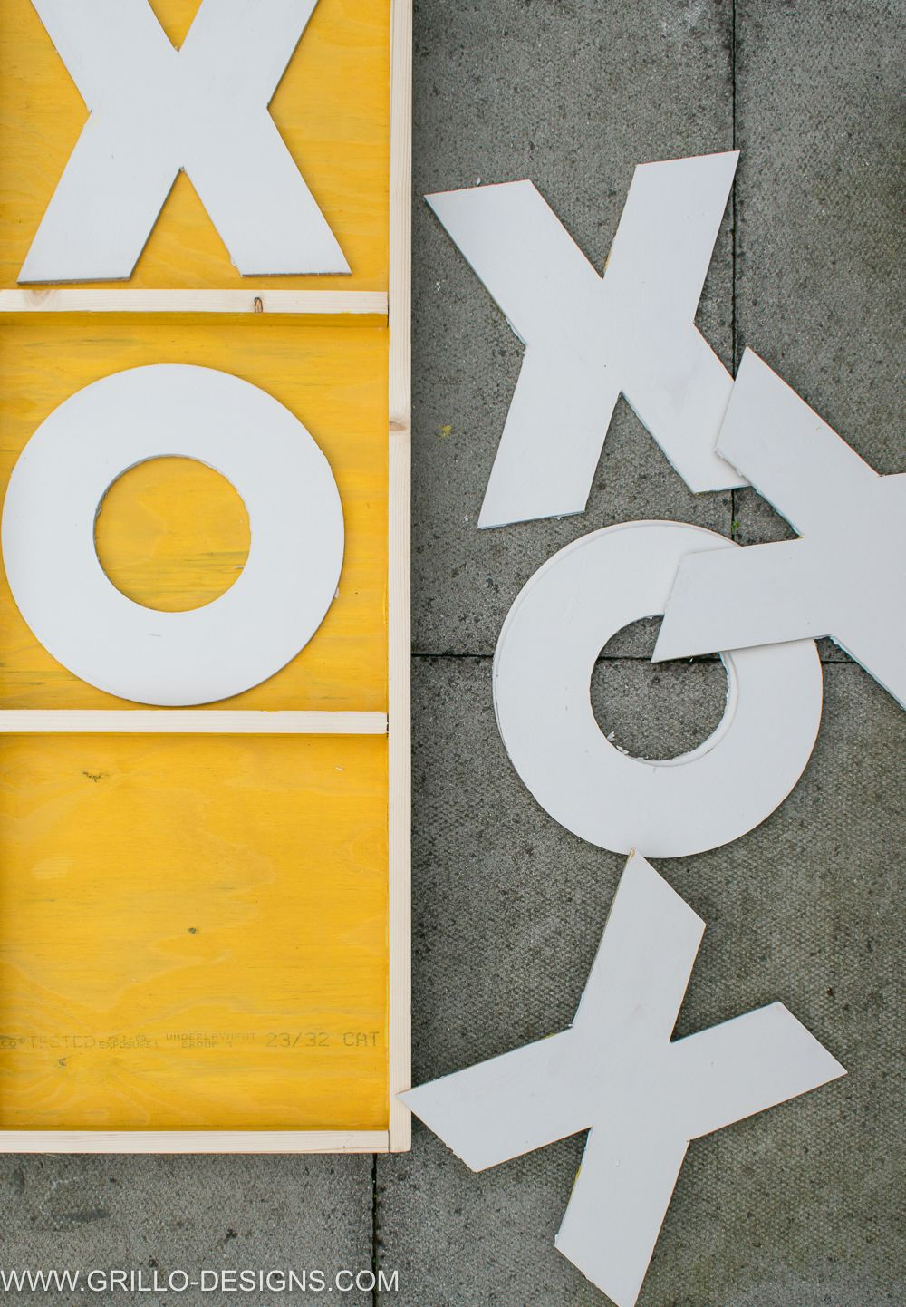 Make a Giant Wooden Noughts & Crosses Game Board! | Creative
