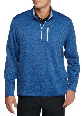 Pro Tour Blue Spacedye Quarter Zip Tech Fleece Jacket