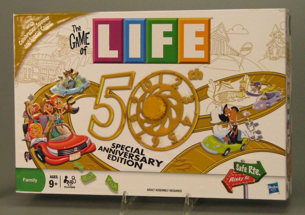 hasbro game of life 50th anniversary edition