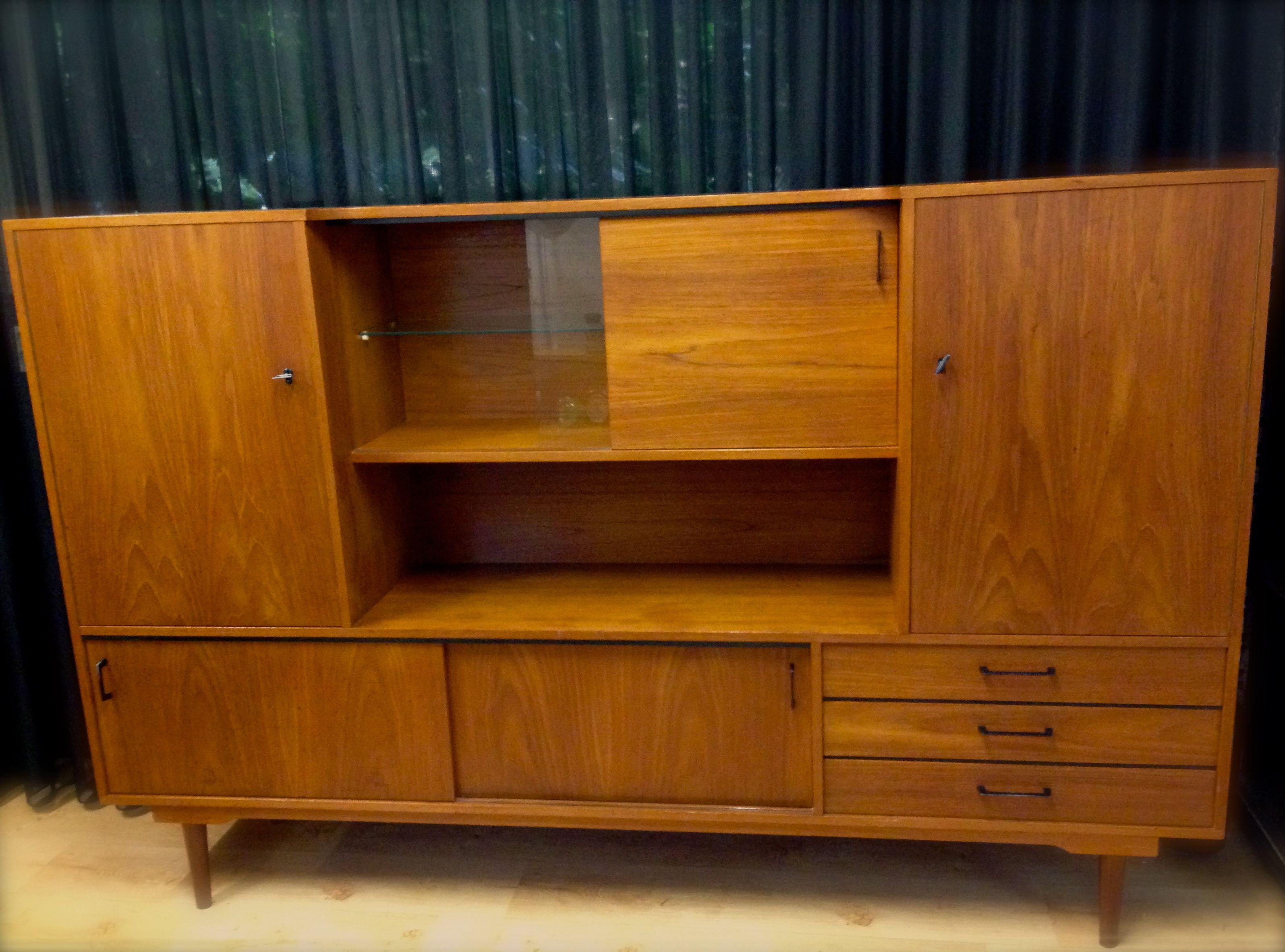 Servieskast Ouderwets Modern : Midcentury cabinet vintage servieskast vintage kast vintage