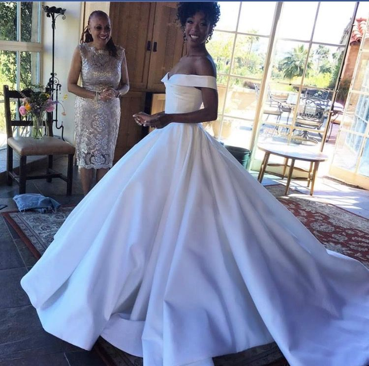 Samira Whiley (Poussey from OITNB) wedding dress She looks