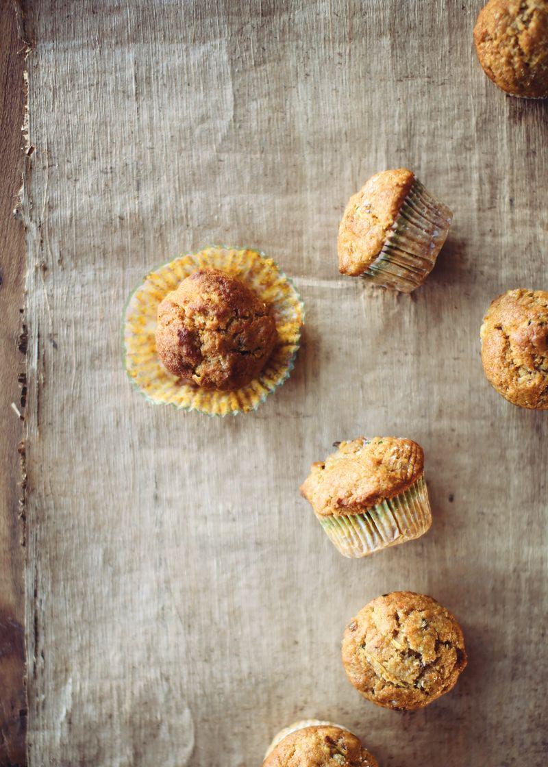 Moist Pumpkin Zucchini Muffins