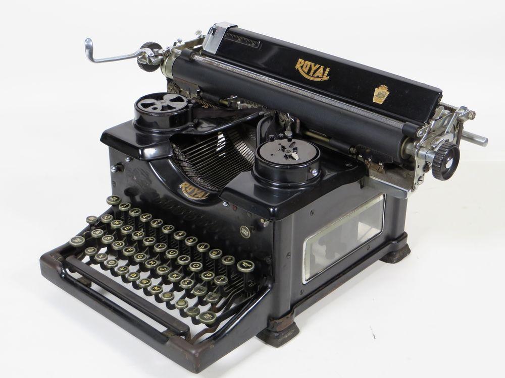 Antique Vintage 1934 Royal Model 10 Typewriter W Beveled Glass Sides S14 1651358 Royal Vintage Typewriters Typewriter Royal Typewriter