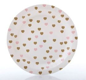 Sweetheart paper plates gold and pink  sc 1 st  Pinterest & Sweetheart paper plates gold and pink | Pink u0026 Gold Baby Shower ...