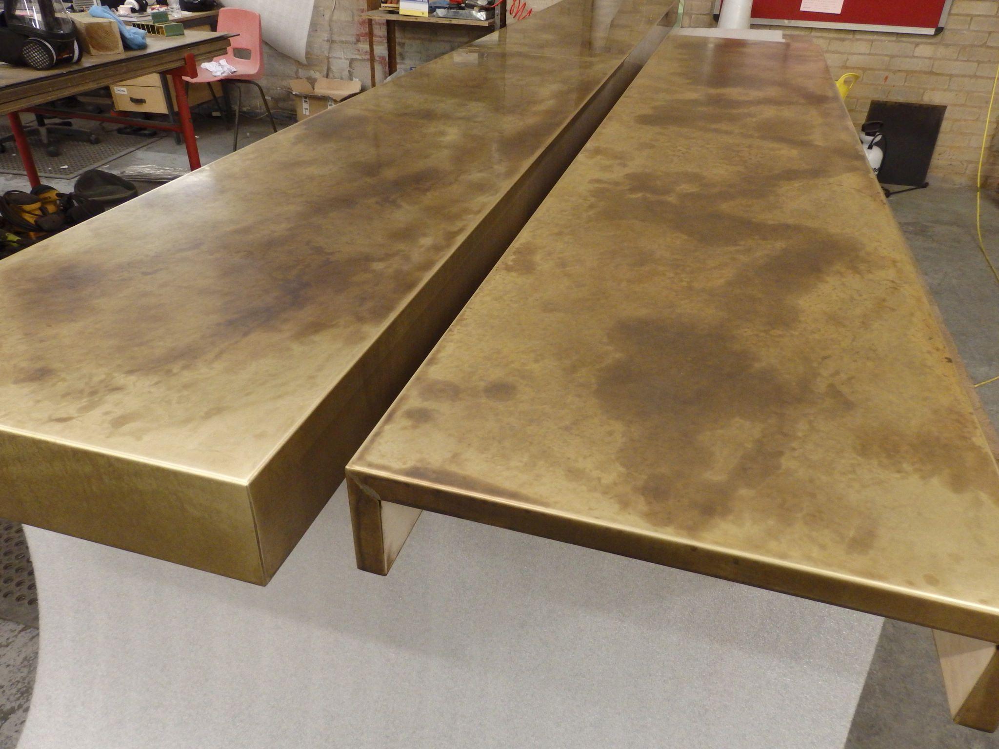 59 pair of aged brass bar tops bar top ideas steel sheet metal metal bar kitchen benches. Black Bedroom Furniture Sets. Home Design Ideas