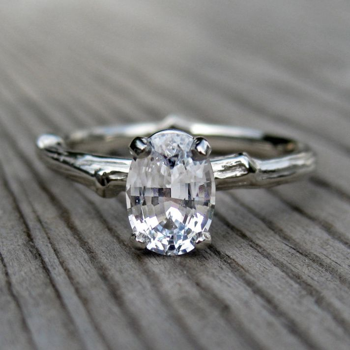 non diamond engagement rings that sparkle just as bright part 1 oval engagement rustic engagement - Rustic Wedding Rings